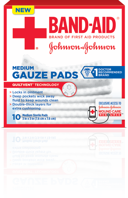 BAND-AID® Brand of First Aid Products Gauze Pads