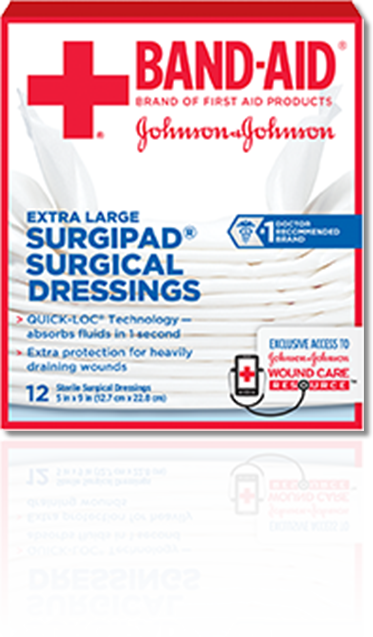 BAND-AID® Brand of First Aid Products SURGIPAD® Surgical Dressings
