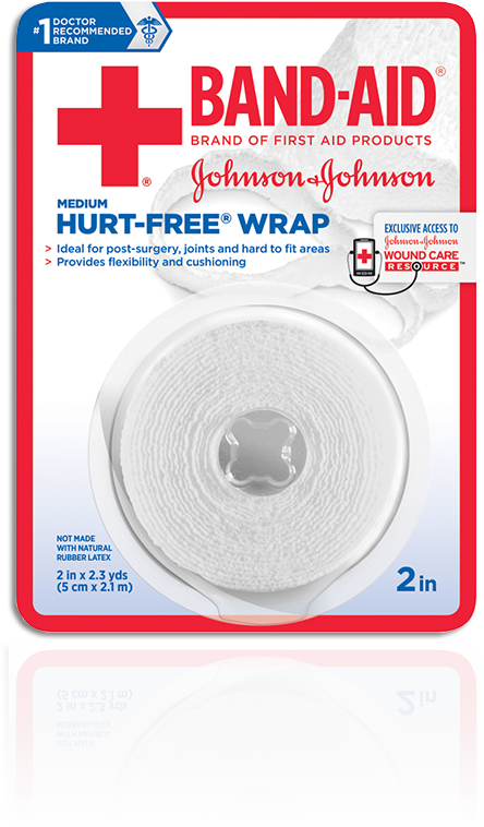 BAND-AID® Brand of First Aid Products HURT-FREE® Design Wrap