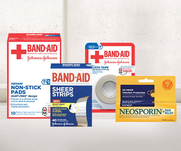 Band-Aid Brand first Aid Neosporin Supplies