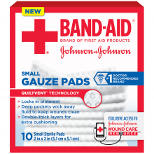 Gauze Pads BAND-AID® Brand of First Aid Products Assorted Sizes