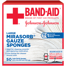 MIRASORB® Gauze Sponges BAND-AID® Brand of First Aid Products