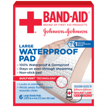 Waterproof Pads BAND-AID® Brand of First Aid Products