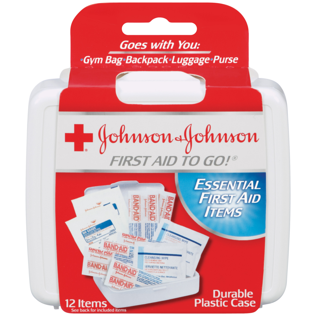 FIRST AID TO GO!® First Aid Kit Johnson and Johnson RED CROSS® Brand