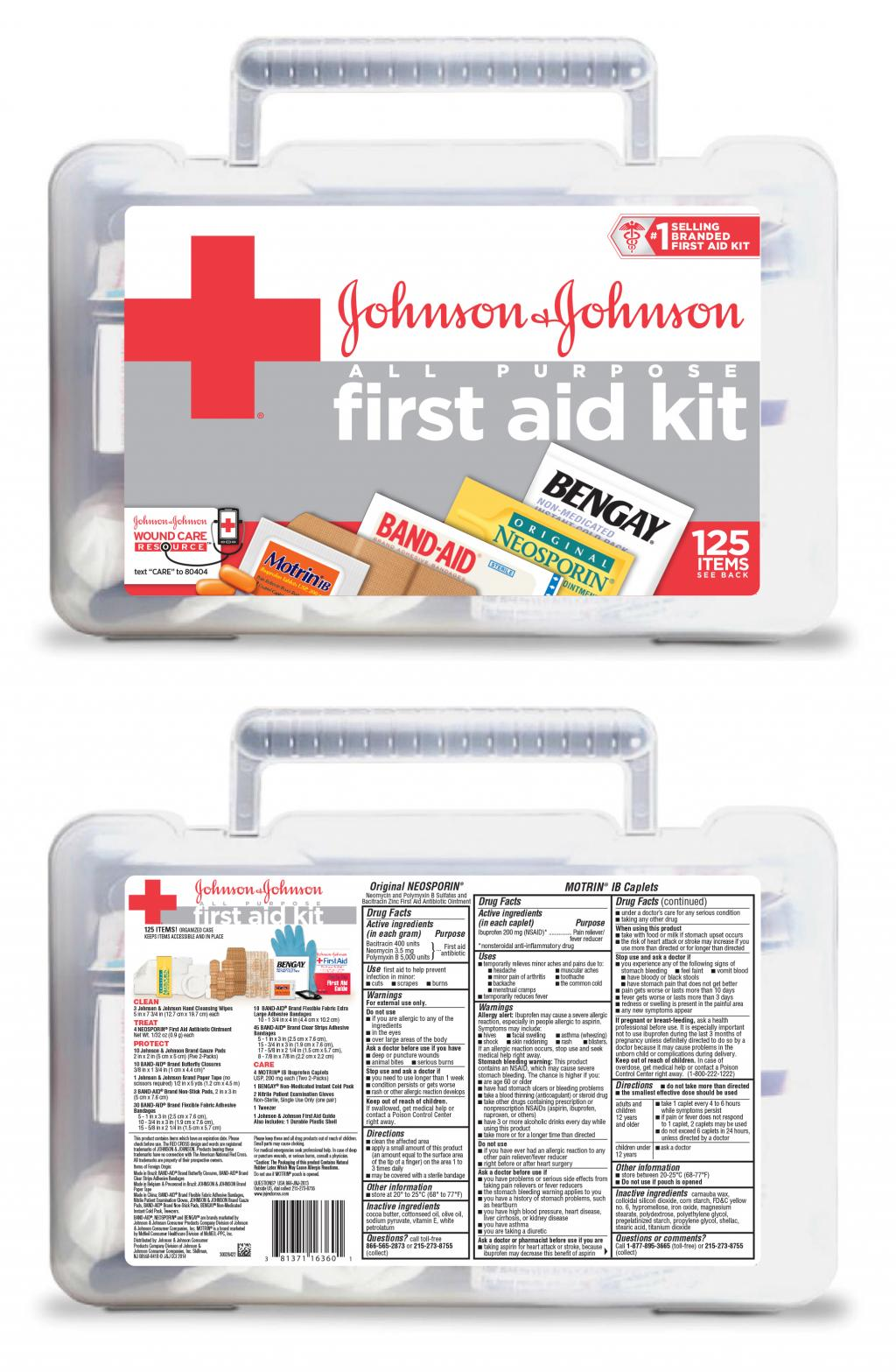 All-Purpose First Aid Kit Johnson & Johnson RED CROSS® Brand