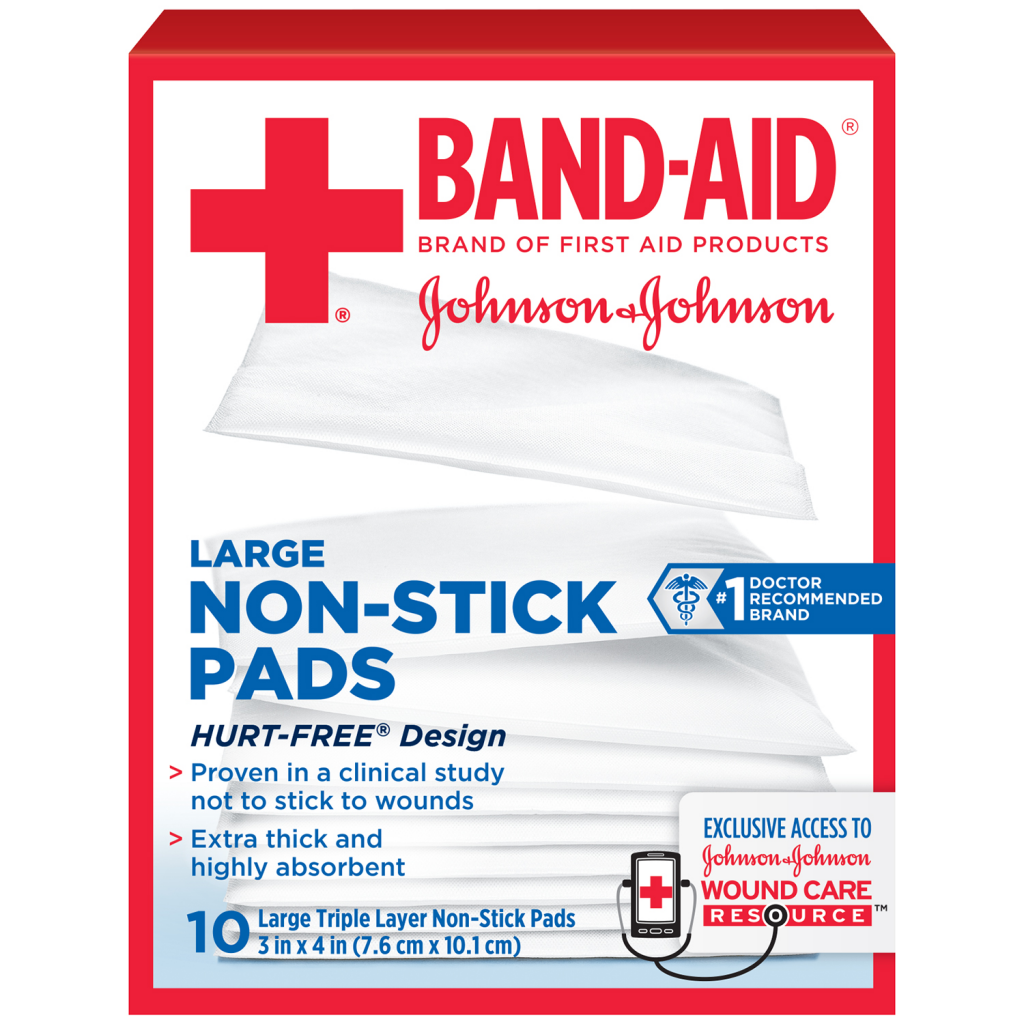 Non-Stick Pads BAND-AID® Brand of First Aid Products Assorted Sizes