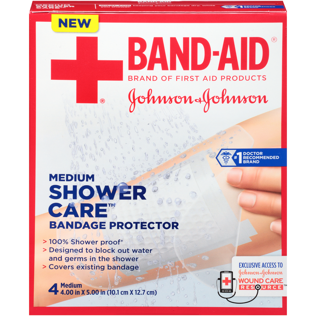 BAND-AID® Brand of First Aid Products Medium Shower Care | BAND-AID ...