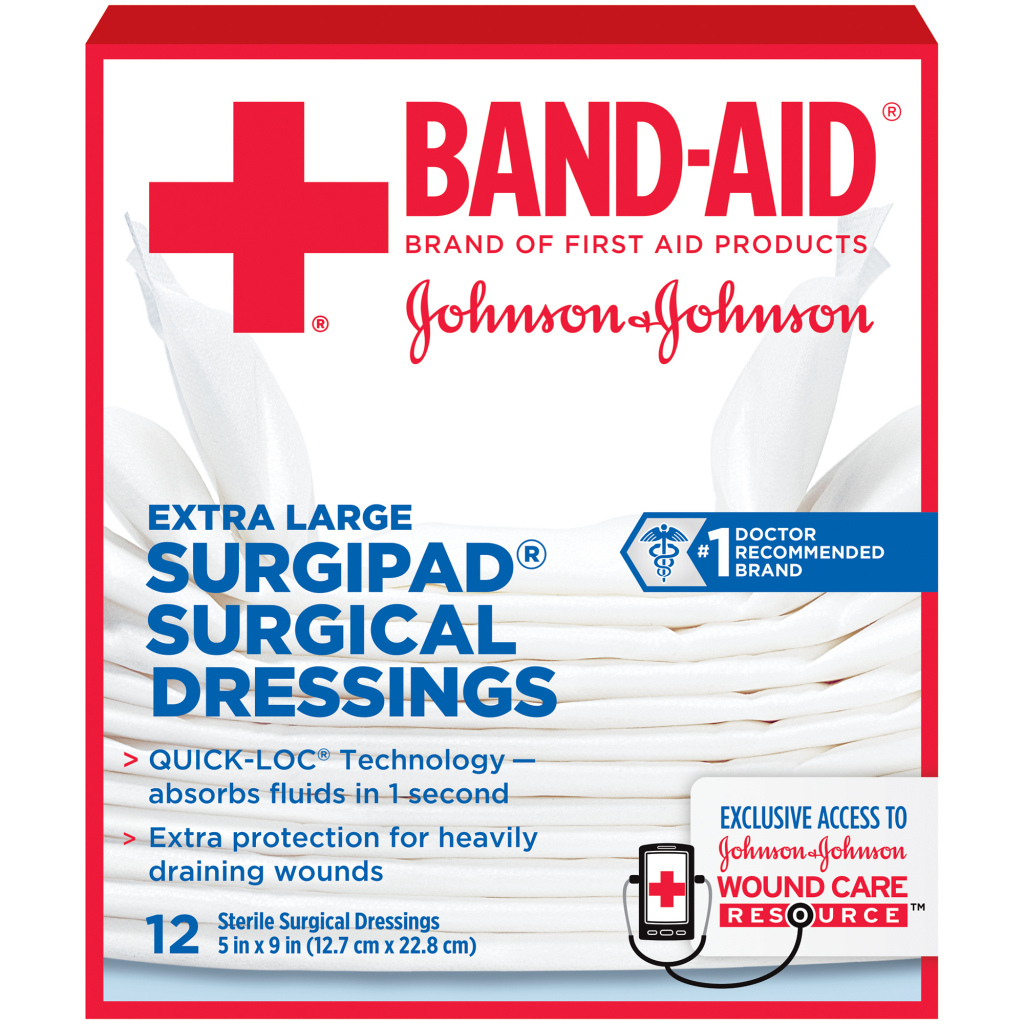 SURGIPAD® Surgical Dressings  BAND-AID® Brand of First Aid Products
