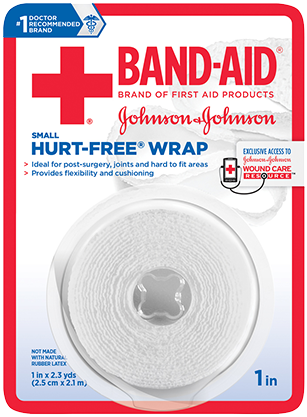 Band-Aid brand first aid hurt free wrap