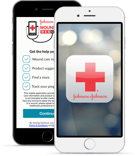 Johnson & Johnson Wound Care Resource App iPhone