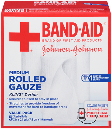 Band-Aid Brand First Aid Medium Rolled Gauze