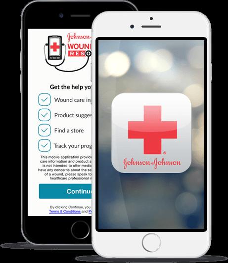 Johnson & Johnson Wound Care Resource App iPhone
