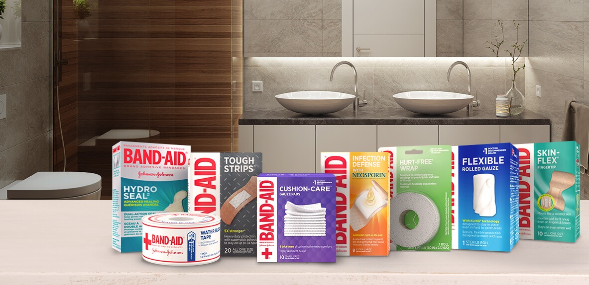 New packaging of BAND-AID® Brand wound care products