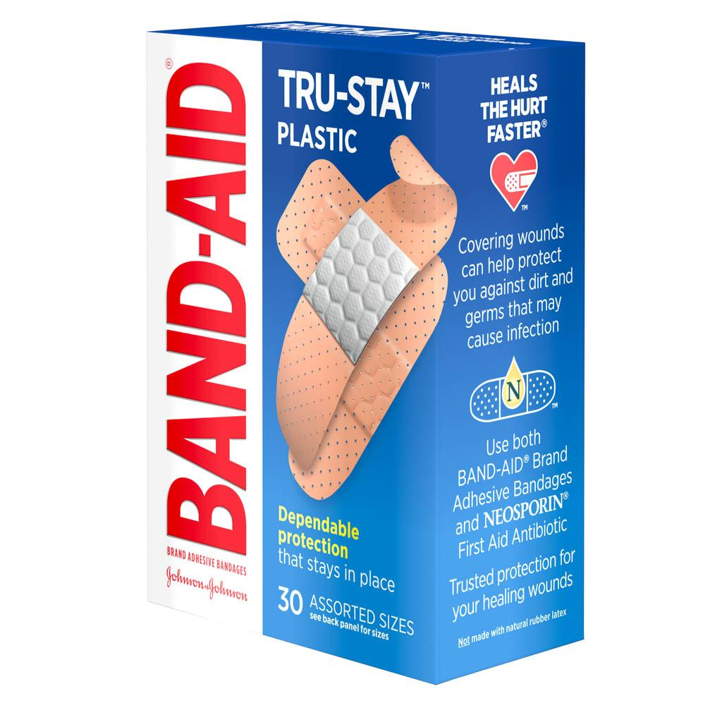 TRU-STAY™ Plastic Bandages,30 Ct | BAND-AID® Brand Adhesive