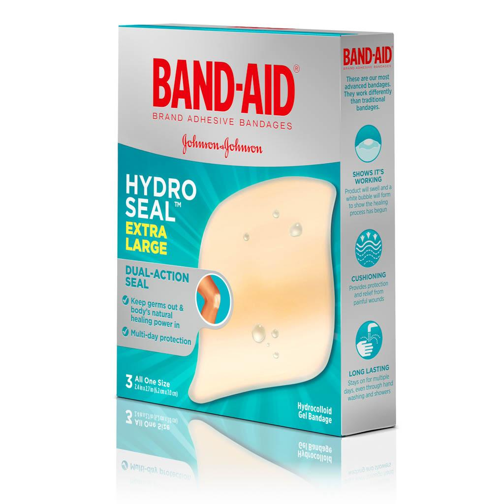 HYDRO SEAL™ Extra Large Gel Bandages, 3 Ct | BAND-AID® Brand