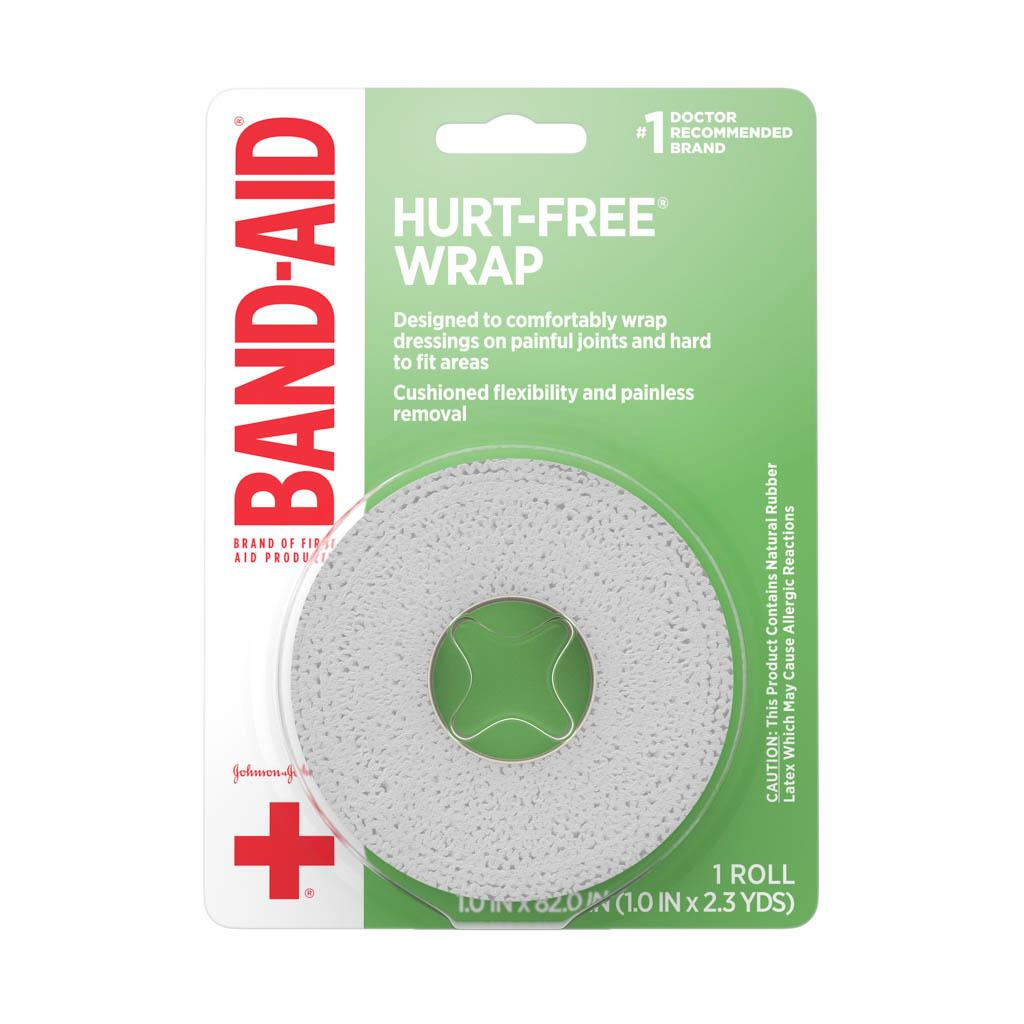Hurt Free Self Adherent Wrap 1 In X 2 3 Yds Band Aid Brand