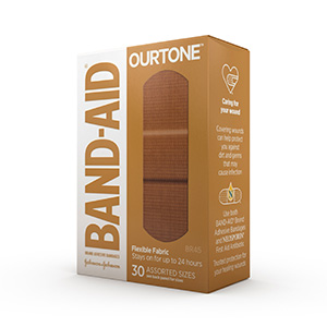 BAND-AID® BRAND OURTONE™ ADHESIVE BANDAGES BR45, 30 COUNT