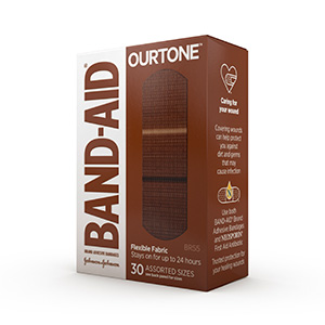 BAND-AID® BRAND OURTONE™ ADHESIVE BANDAGES, BR55, 30 COUNT