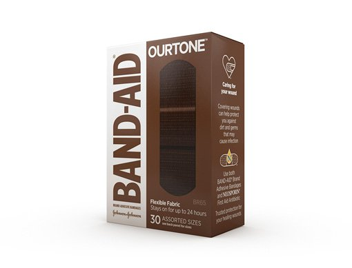 Box of BAND-AID® Brand OURTONE™ Bandages in shade BR65