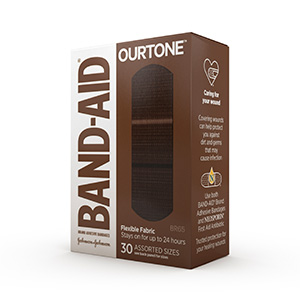 BAND-AID® BRAND OURTONE™ ADHESIVE BANDAGES, BR65, 30 COUNT